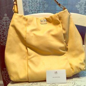 Coach yellow satchel